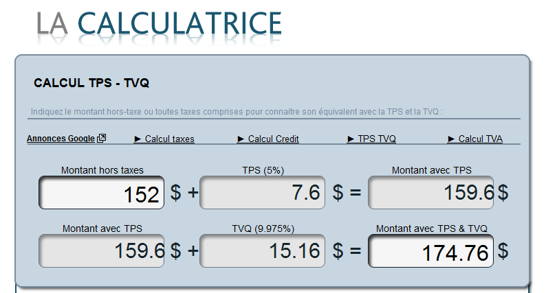 CALCUL TPS TVQ 1 formation sage50